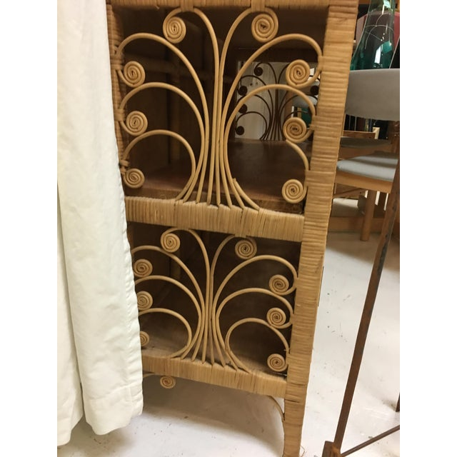 Bohemian Rattan Armoire Cabinet - Image 5 of 10