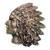American bronze wall plaque of Indian head in profile (1st ¼ 20th Cent)