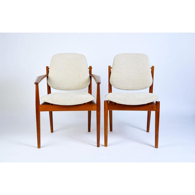 1950s Danish Modern Arne Vodder Arm Chair - Matched Pair For Sale - Image 5 of 5