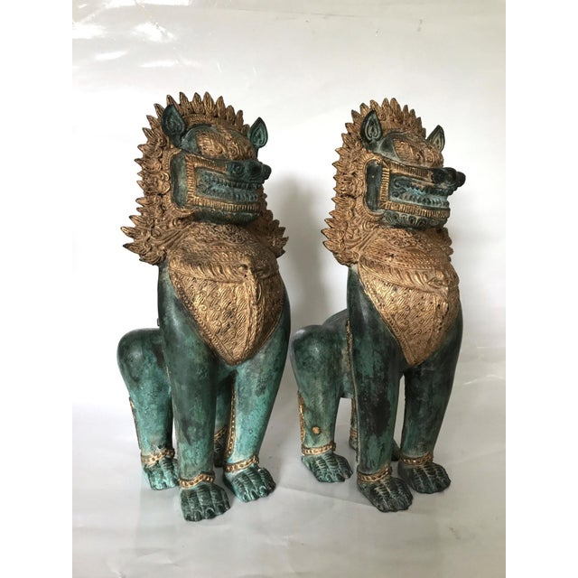 Thai Singha Temple Guardians/Dragons - a Pair For Sale - Image 9 of 9