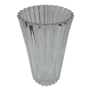 20th Century French Crystal Vase For Sale