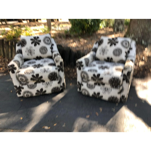 2010s Rowe Furniture Swivel Chairs - a Pair For Sale - Image 5 of 12