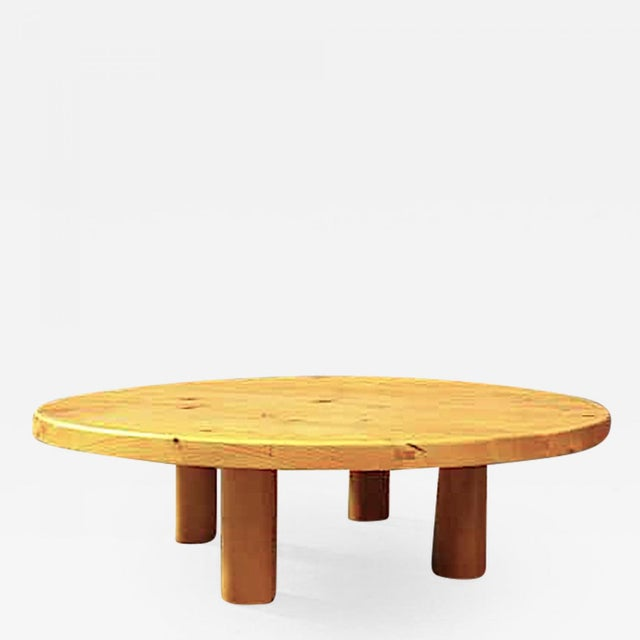1950s Charlotte Perriand for Les Arcs Stunning Big Pine Coffee Table For Sale - Image 5 of 5