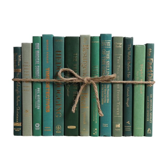 Modern Boxwood ColorPak - Decorative Books in Shades of Green For Sale