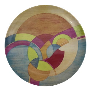 1990s Abstract Frank Lloyd Wright Foundation 'Moon Dream' Plate For Sale