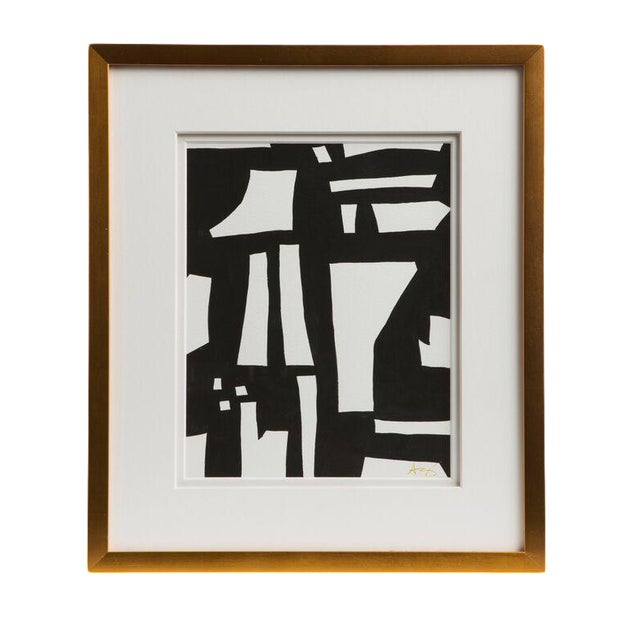 Emporium Home Abstract Black & White Watercolor - Image 1 of 2