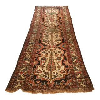 Early 20th Century Antique Caucasian Runner - 10′3″ × 3′7″ For Sale