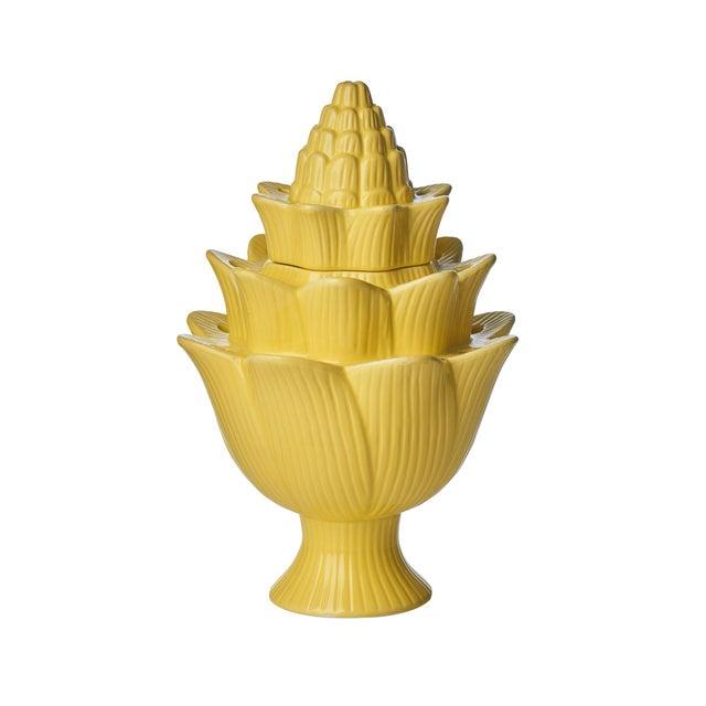 Contemporary Small Yellow Artichoke Tulipiere For Sale - Image 3 of 3
