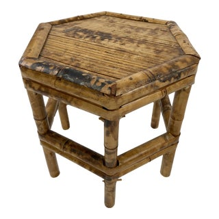 Hex Shaped Bamboo Riser Stool For Sale
