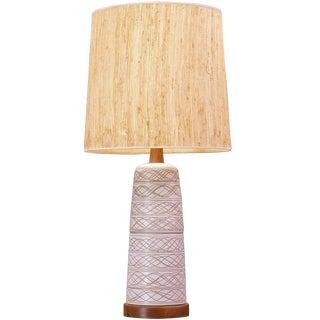 1960s Gordon Jane Martz Marshall Studio Ceramic Pottery Tootsie Roll Table Lamp For Sale