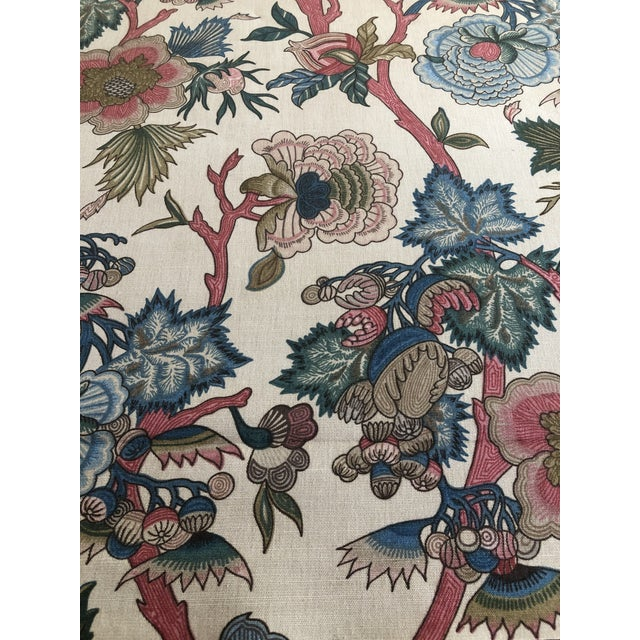 """Traditional Jacobean floral fabric by Northcroft """"Jaipur"""". This is a 1 3/4 yards piece in brand new condition and is 55""""..."""