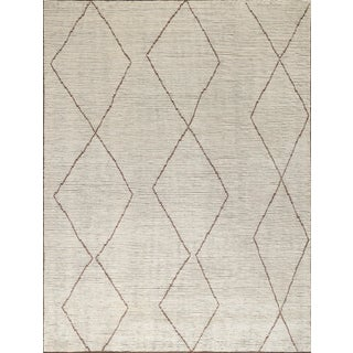 "Stark Studio Rugs Baha Rug in White/Brown, 8'0"" x 10'0"" For Sale"