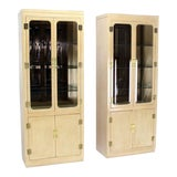 Image of Mid-Century Modern John Stuart Tall Display Cabinets- a Pair For Sale