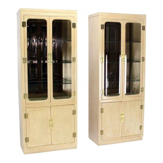 Mid-Century Modern John Stuart Tall Display Cabinets- a Pair For Sale