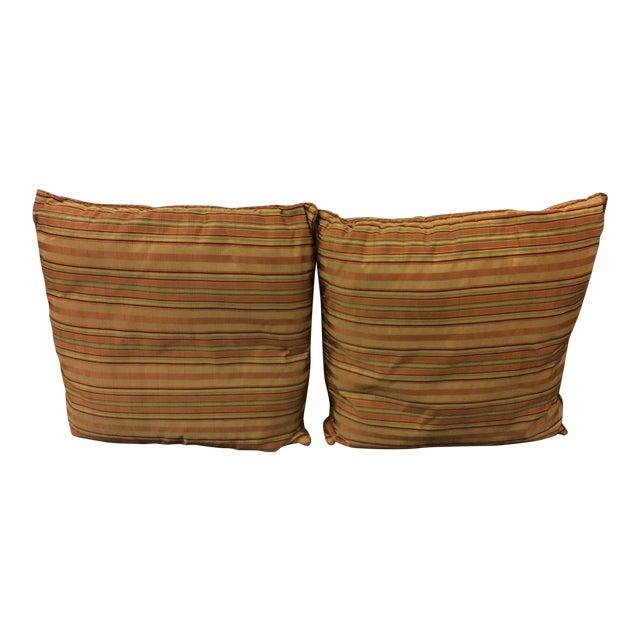 Custom Silk Chenille Silk Pillows - A Pair - Image 1 of 3
