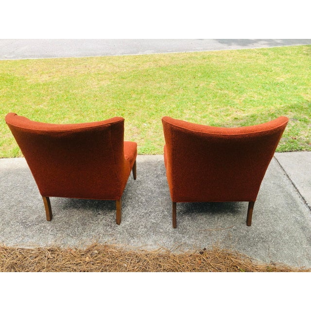 Mid-Century Modern Mid-Century Modern Burnt Orange Chairs - a Pair For Sale - Image 3 of 13