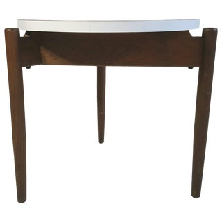 Modernist Side Table Walnut and Laminate Designed by Jens Risom For Sale
