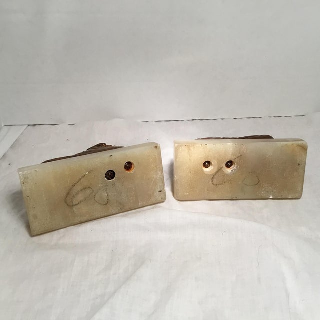 Antique Copper & Marble Baby Shoe Bookends - A Pair - Image 6 of 11