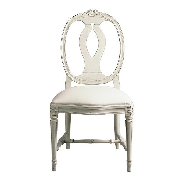 1970s 1970s Vintage Gustavian Carved Rose Chairs- Set of 6 For Sale - Image 5 of 6