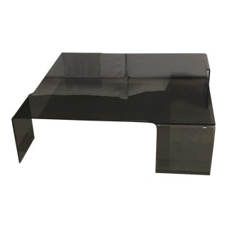 Modern Smoked Glass Coffee Table For Sale