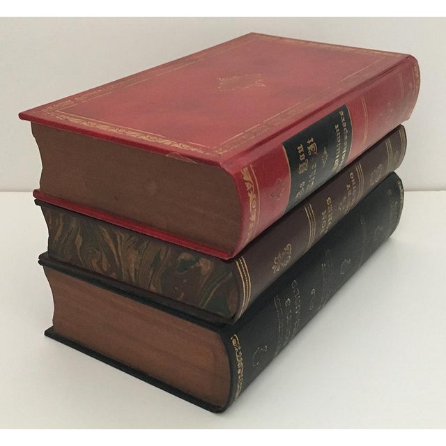 Red Traditional Portable Book Bar For Sale - Image 8 of 9