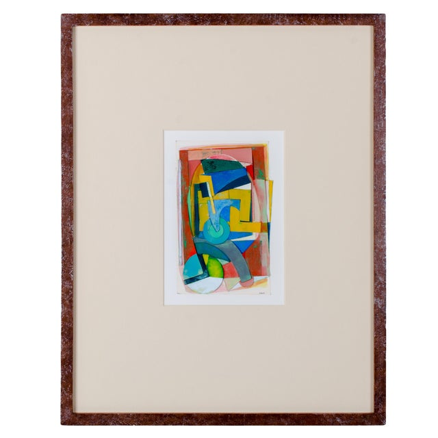 Frederick Lynch Abstract Gouache Collage For Sale
