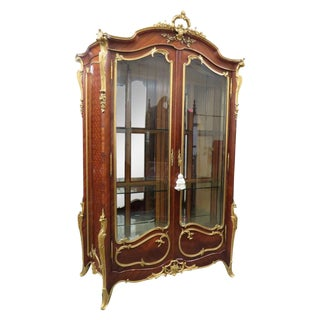 Early 20th Century Louis XV Signed Francois Linke Wood Cabinet For Sale
