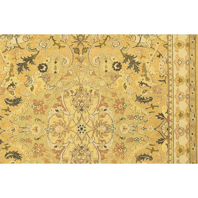 Traditional Traditional Hand Woven Gold and Beige Wool Rug - 6'2 X 9'10 For Sale - Image 3 of 4