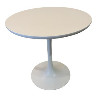 White Round Tulip Table For Sale