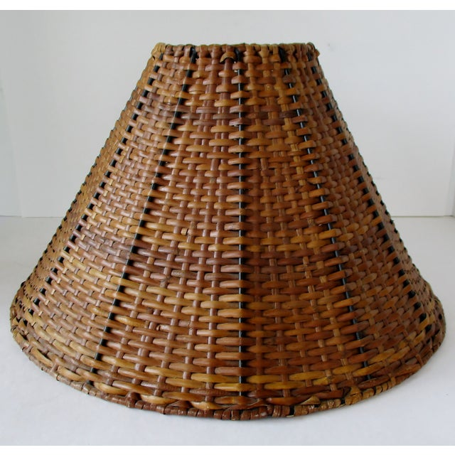 Wicker Uno Lamp Shade For Sale - Image 4 of 8