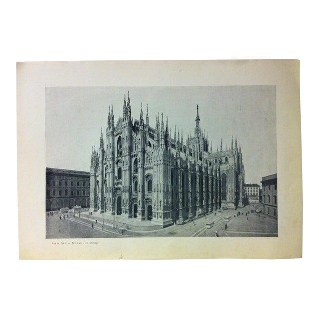 "Circa 1930 ""In Duomo"" Print of Milano Italy For Sale"