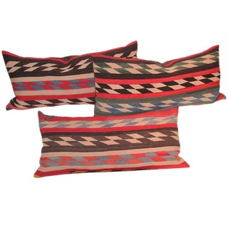 Navajo Indian Weaving Pillows - Collection of 3 For Sale