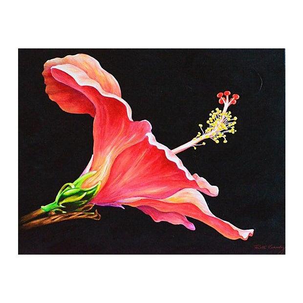 Hibiscus Original Painting - Image 2 of 2