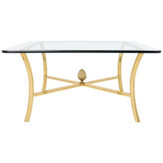 Vintage Maison Raphael Gilt Brass Coffee Table For Sale