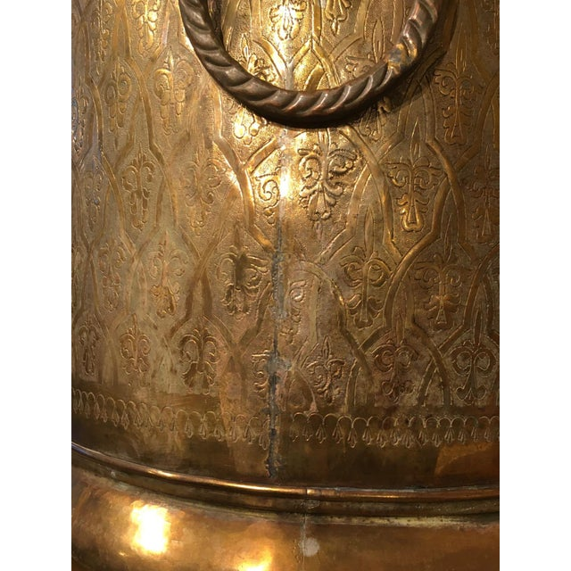 Metal Late 20th Century Moroccan Brass Planter For Sale - Image 7 of 12