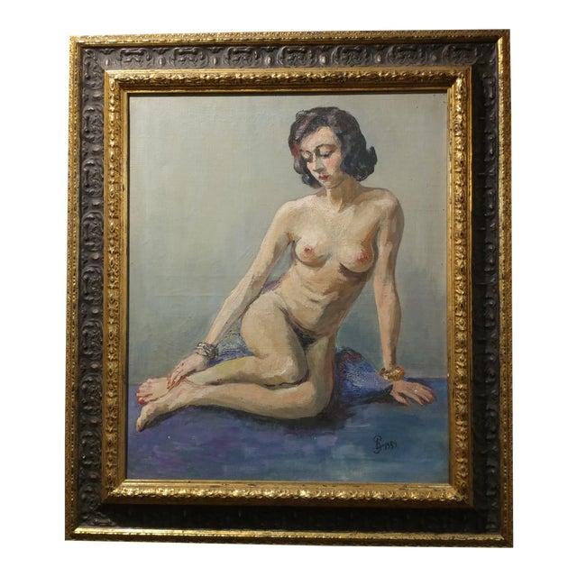 Ismael De La Serna - Mujer Desnuda Mid-Century Oil Painting For Sale