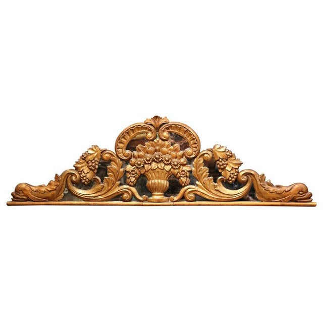 18th Century French Carved Gilt and Glass Wall Hanging For Sale - Image 9 of 9