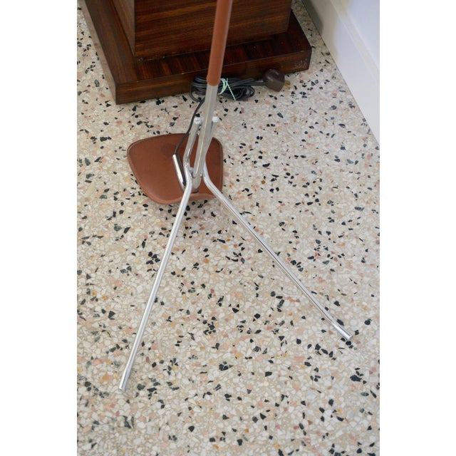 Late 20th Century Chrome and Leather Floor Lamp For Sale - Image 5 of 12
