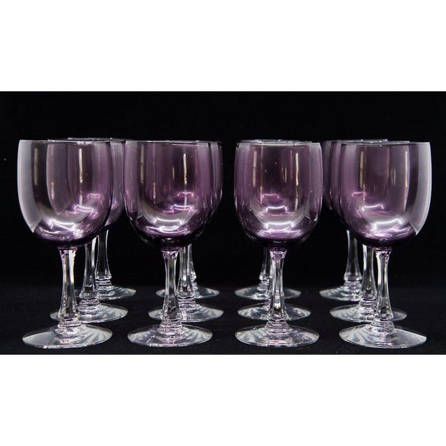 Add elegance and purple hues to your dining table with these 12 gorgeous Mid-Century Modern amethyst wine glasses. The...