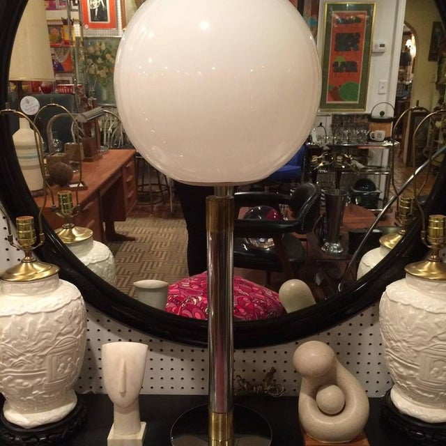 Large Robert Sonneman Style Lollipop Table Lamp For Sale - Image 4 of 12