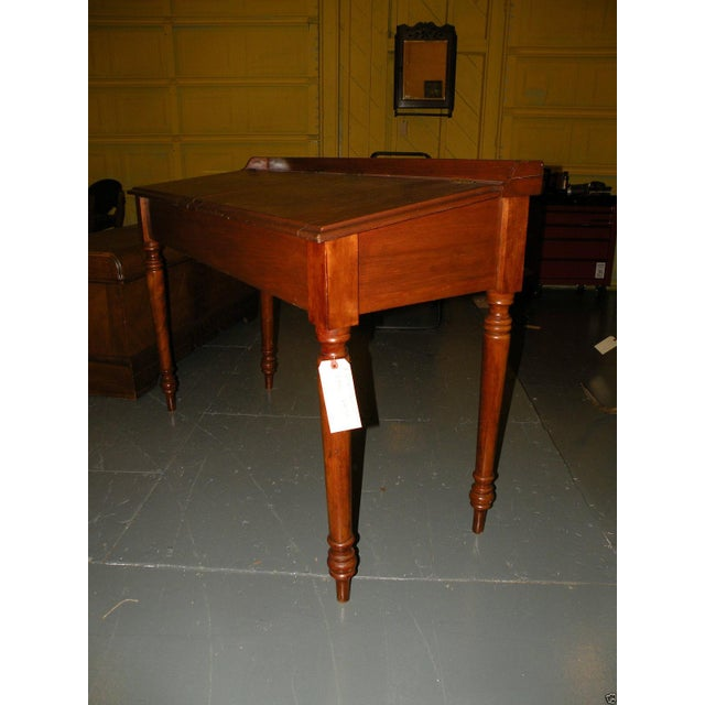 Antique Primitive Cherry Desk - Image 4 of 8
