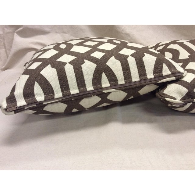 Brown & Neutral Pillows - A Pair For Sale In Raleigh - Image 6 of 7