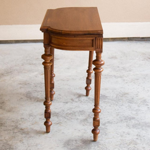 19th Century French Henri II Walnut Game Table ~ Console For Sale - Image 10 of 13