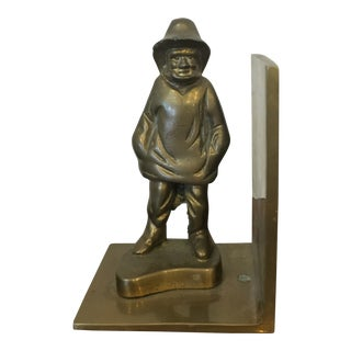 One Vintage Brass Sailor Bookend For Sale
