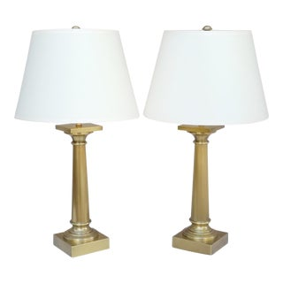 Restoration Hardware Brass Table Lamps - a Pair