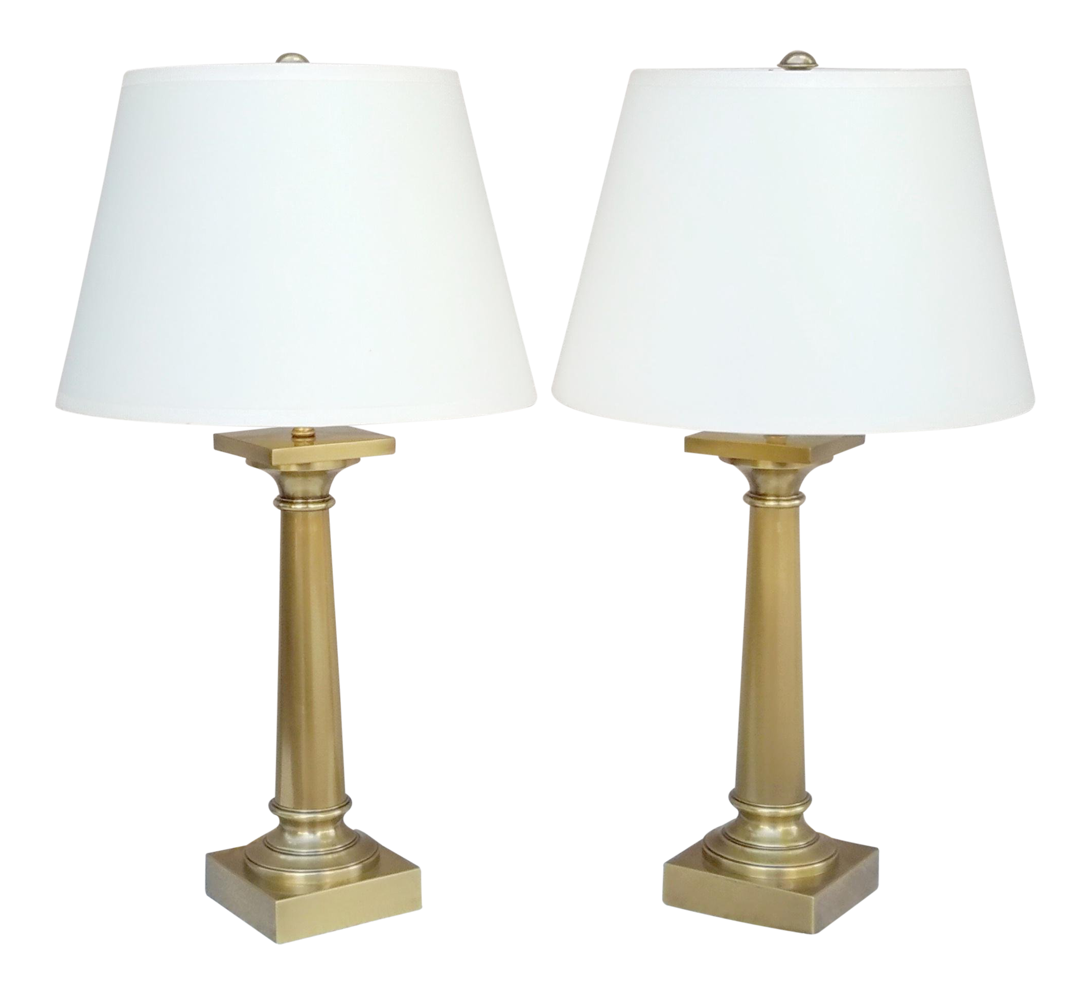 Restoration Hardware Brass Table Lamps   A Pair