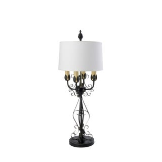 Wrought Iron Candelabra Table Lamp For Sale