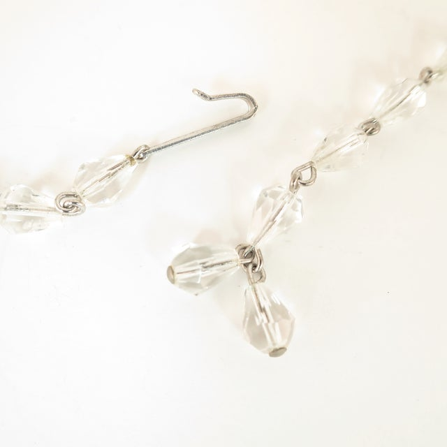 Metal Mid-Century Hand-Made Austrian Crystal Cluster Necklace Suite 1950 For Sale - Image 7 of 13