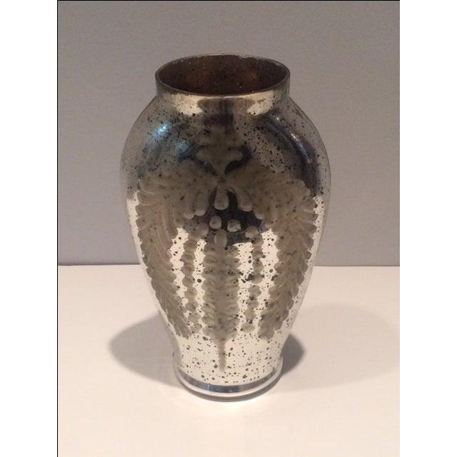 Modern Mercury Glass Hurricane Candle Holder - Image 2 of 5