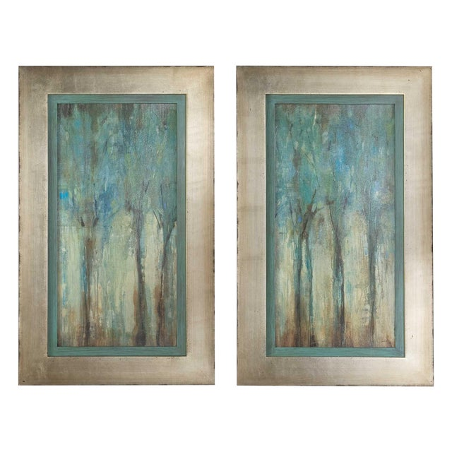 Uttermost Framed Whispering Wind Oil Reproductions - a Pair For Sale